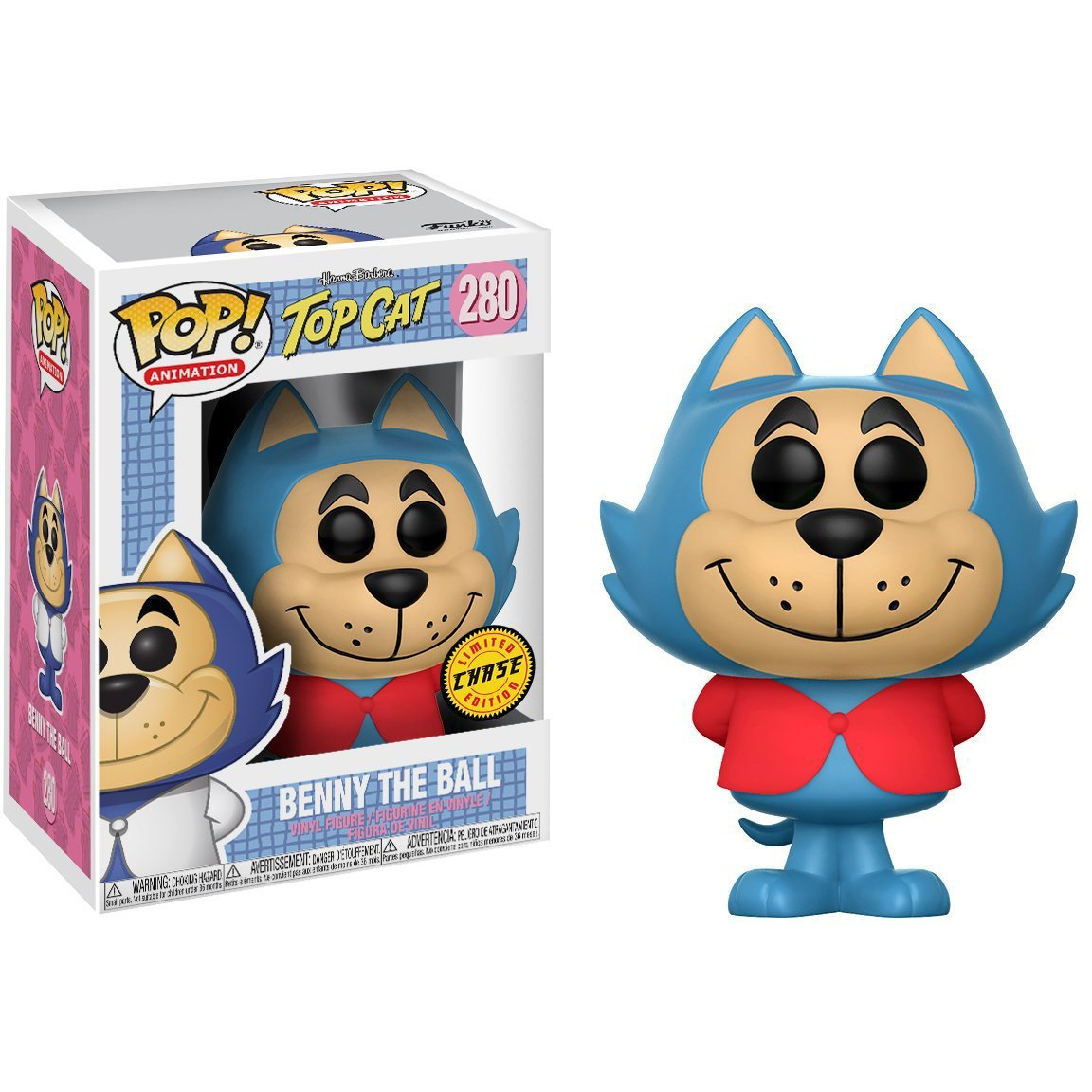 : Hanna-Barbera Top Cat x POP BCC9US20 #280 // 13660 - B Animation Vinyl Figure /& 1 POP Compatible PET Plastic Graphical Protector Bundle Chase Edition Funko Benny The Ball