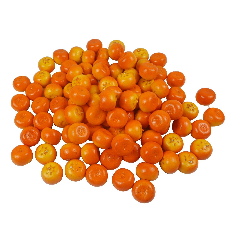 Colorfulife Artificial Lifelike Mini Orange Tangerine , Fake Fruit Model Party Home Decoration Teaching Props Photo Child Education Fruits House Kitchen Decorative (100, Tangerine) anglovesmile