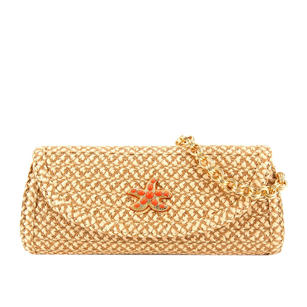 Eric Javits Luxury Fashion Designer Women's Handbag - Paradis - Peanut