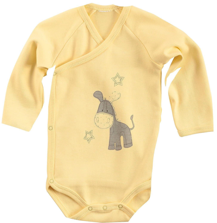 Baby Butt Wickelbody mit Druckmotiv Interlock-Jersey