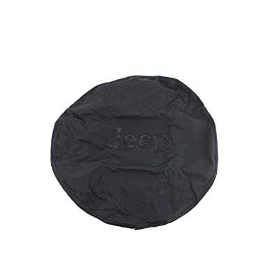 Genuine Jeep Accessories 82209949AB Cloth Spare Tire Cover with Black Jeep Logo: Automotive