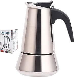 CUPERINOX Cafetera Italiana inducción | 10 Tazas | cafetera Express para Placas y vitroceramicas inducción | Acero Inoxidable | Apto lavavajillas (no Incluye Molinillo café): Amazon.es: Hogar