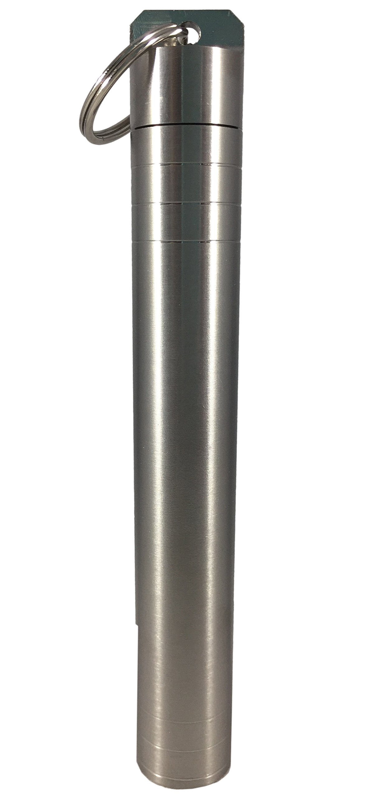 Titanium Doobie Tube, Waterproof, Airtight, Smell Odor Proof, Indestructible Keychain Storage Container Case for Large Joints or Pre-Rolled Cigarettes