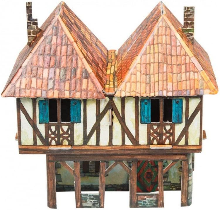 "UMBUM Innovative 3D Puzzle - Burgher House - Medieval Town - 6¼"" x 6 x 4¼"" 14 pcs - Clever Paper (282)"