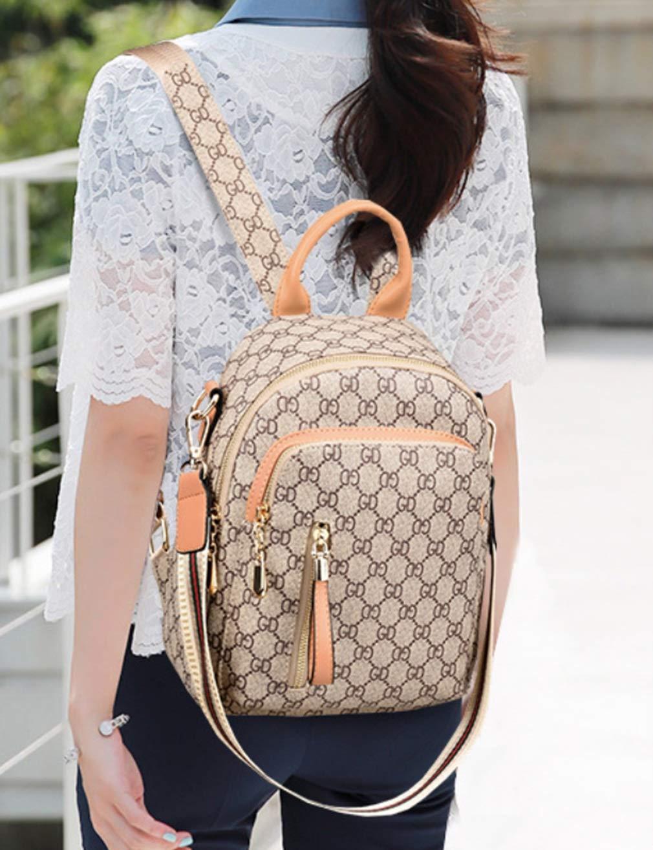 RSQJ Female Bag Shoulder Bag Small Bag Leisure Multi-Function Backpack (Color : C, Size : 22102cm) by RSQJ backpack (Image #4)