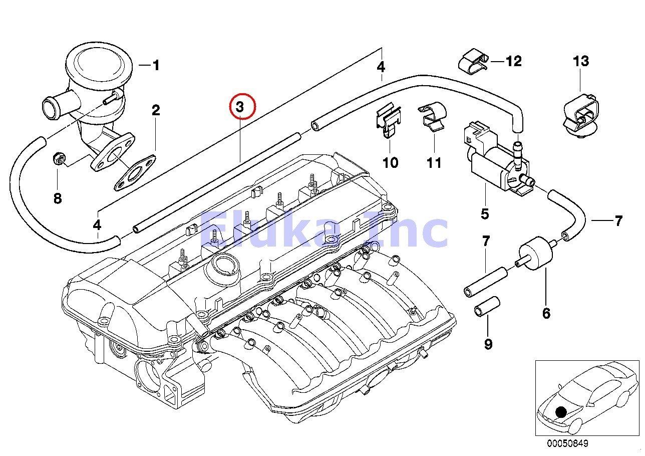 Amazon BMW Genuine Secondary Air Injection Vacuum Hose. Amazon BMW Genuine Secondary Air Injection Vacuum Hose Control To Valve 525i 528i 530i 320i 323ci 323i 325ci 325i 325xi 328ci 328i 330ci 330i. Wiring. 1997 540i Engine Diagram Vacuum At Scoala.co