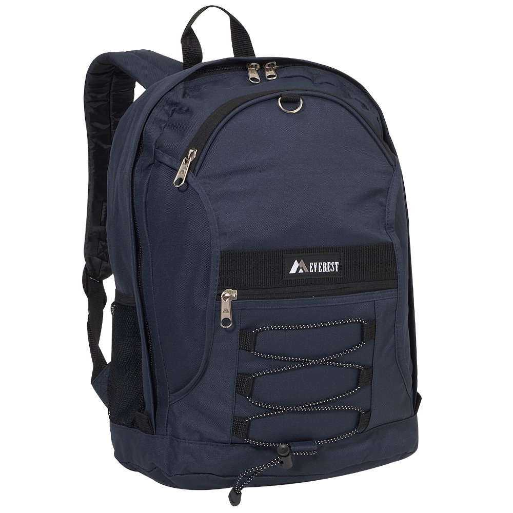 One Size Everest Luggage Child Vendor Code 3045SH-TURQ//BK Turquoise Everest Two-Tone Backpack with Mesh Pockets