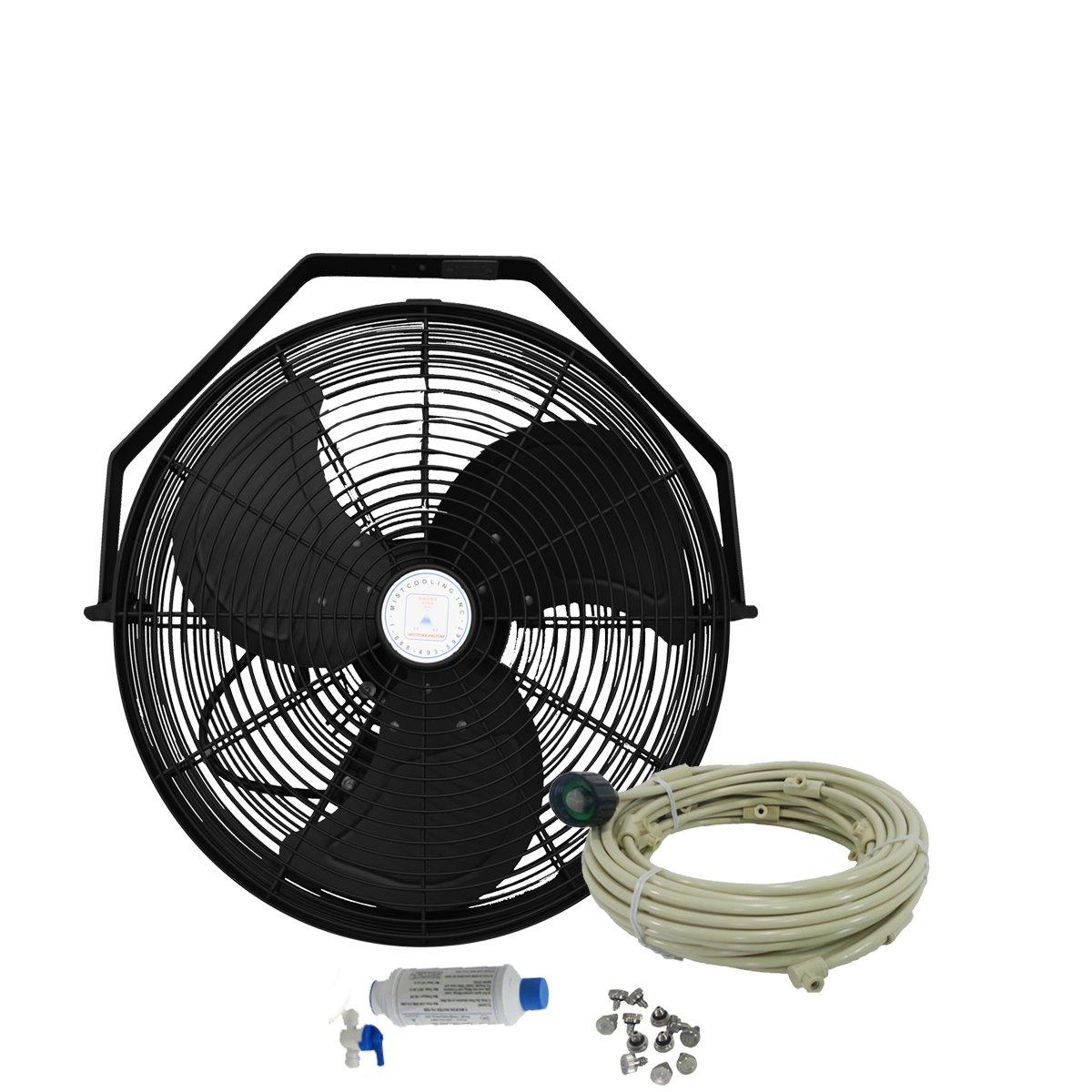 Misting Fan - Patio Mist Fan - Outdoor Mist Fan - For Residential, Commercial, Restaurant and Industrial Misting Application. (18 Inch - Black Fan)