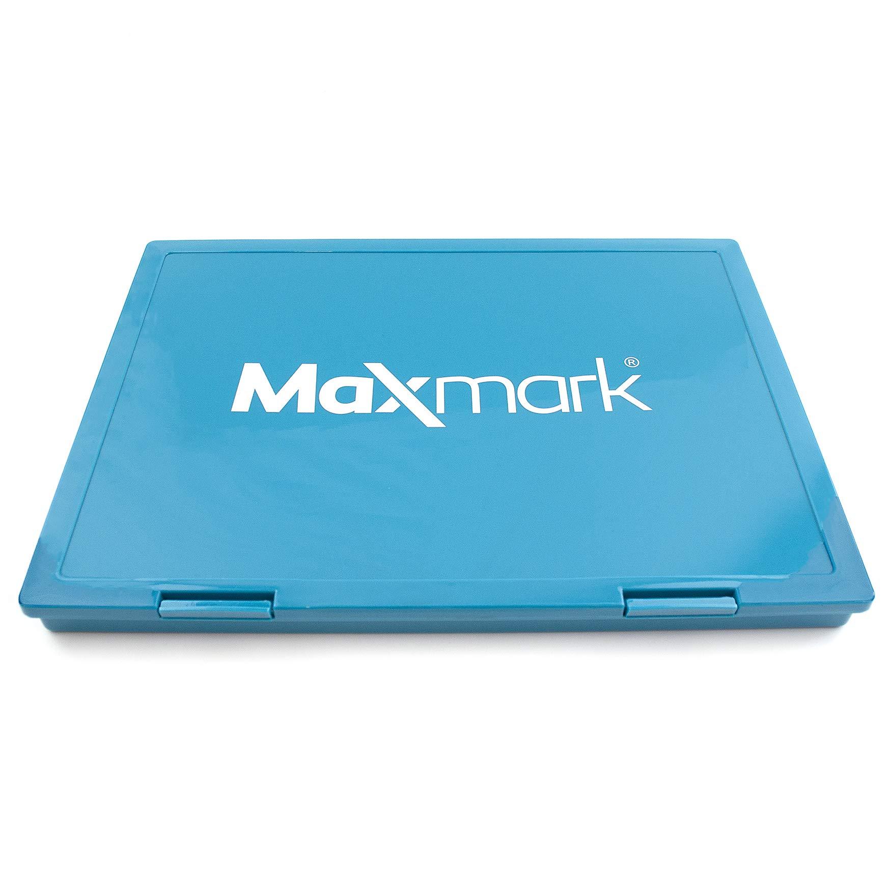 MaxMark Extra Large Black Ink Stamp Pad - 8.25'' x 11.5'' - Industrial Felt Pad by MaxMark