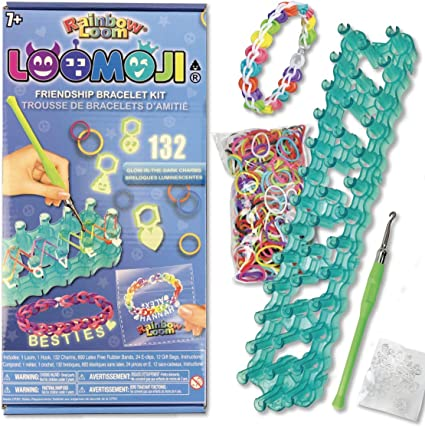 25 NEW Loom HALF /& HALF COLOR 600 Rubber Bands for Rainbow Refill //w S-clips