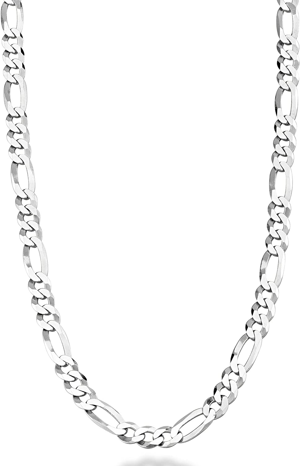 """7/""""-44/"""" MEN WOMEN,5MM STAINLESS STEEL SILVER FIGARO ROPE CHAIN NECKLACE"""