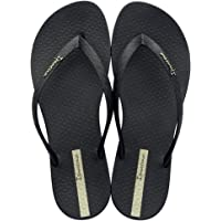 Ipanema Womens Classica Wave FEM Flip Flops/Sandals-Black