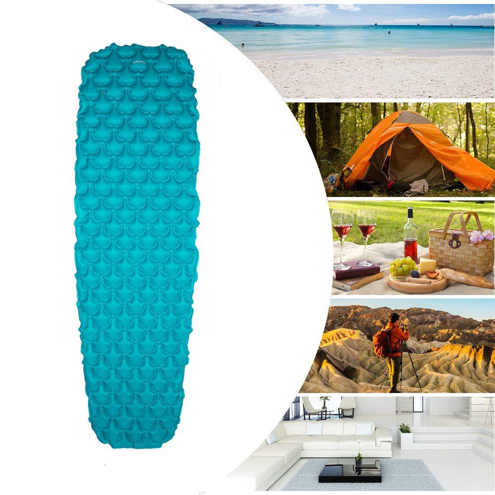 Leggero Materassini Autogonfianti con Cuscino Gonfiabile Materasso Spessore 5 CM per Escursioni Tenda Zenph Materassino Gonfiabile da Campeggio Viaggi