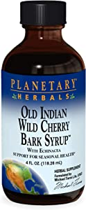 Planetary Herbals Old Indian Wild Cherry Bark Syrup with Echinacea - Natural - 4 oz