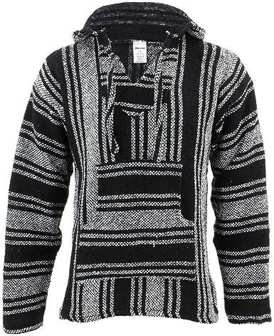 Siesta Baja Jerga - Jersey con capucha, color blanco y negro