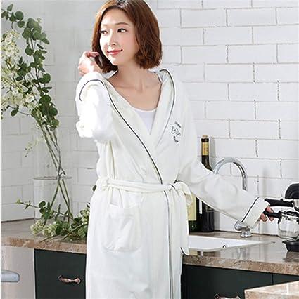 1e0d8cd0b0 Woman Nightgown White Couple Cotton Bedroom Long Sleeve Robe Bath Nightwear  Spring Summer Sleepwear Gown Bathrobes: Amazon.ca: Home & Kitchen