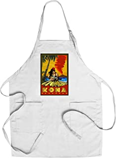 product image for Kona, Hawaii - Hula Girl and Ukulele (Cotton/Polyester Chef's Apron)