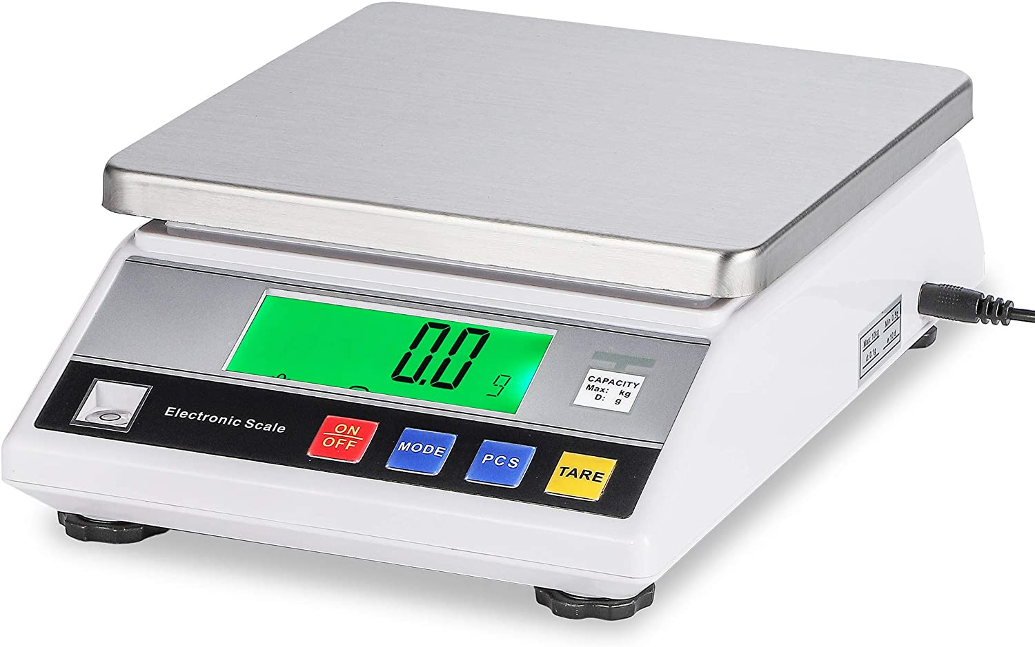 Bonvoisin Lab Scale 5000gx0.1g Counting Scale Digital Analytical Balance Accurate Electronic Scale CE Certification Laboratory Balance Precision Scale Jewelry Gold Scale (5000g, 0.1g)