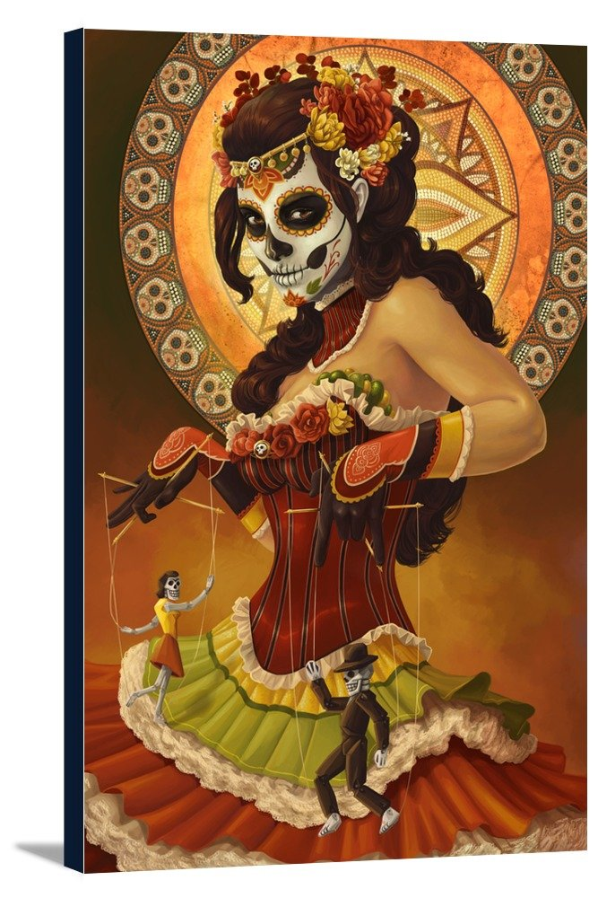 Day of the Dead – Marionettes 16 x 24 Gallery Canvas LANT-3P-SC-42805-16x24 B016NYCHOS 16 x 24 Gallery Canvas16 x 24 Gallery Canvas