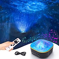 Galaxy Projector, Powaiter 3 in 1 Star Projector Starry Night Light with LED Nebula/Ocean Wave for Baby/Kids/Adults…