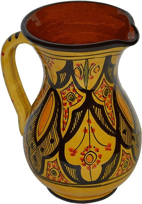 Moroccan Pitchers Sangria Handmade Ceramic Carafe Beverage Dispenser Jar Cooler