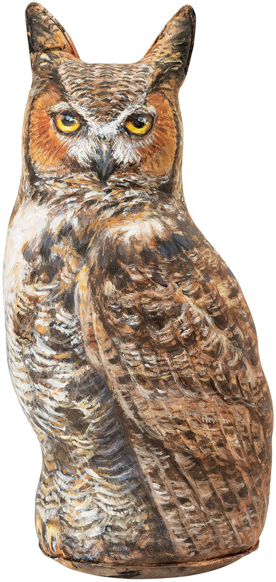 Great Horned Owl Doorstop, Animal Door Stop, Decorative Owl