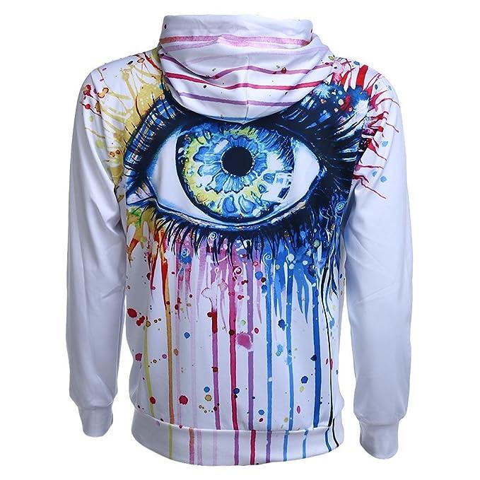 Domybest Mode Männer Hooded 3D Print Farbe Augen dünne Sweatshirts Pullover  (XL)  Amazon.de  Bekleidung 91c598fa92