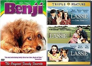 Best Dogs Family Collection Benji & Lassie DVD 4-Movie Feature Bundle Lassie Come Home / Son of Lassie / Courage of Lassie Elizabeth Taylor + Original Joe Camp's Benji Movie Pack