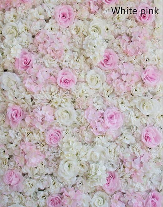 Artificial Flower Wall Wedding Engagement Venue Pillar Main Road Decor