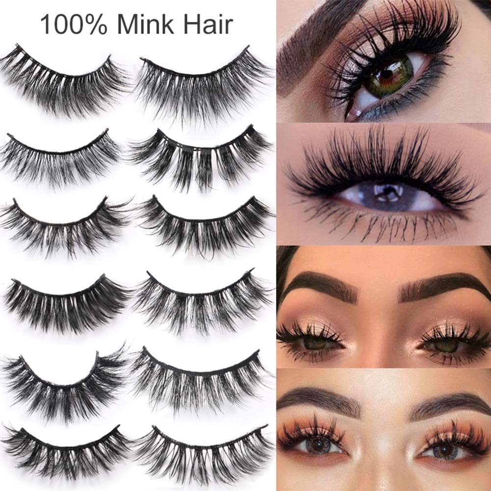 Amazon Cocohot Mink Hair False Eyelashes Natural Dense Slender