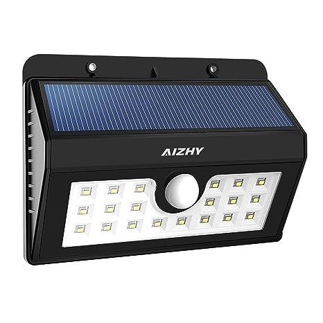 [actualización versión] 3 modos funciona con energía solar luces, 20 LEDs Seguridad inalámbrica