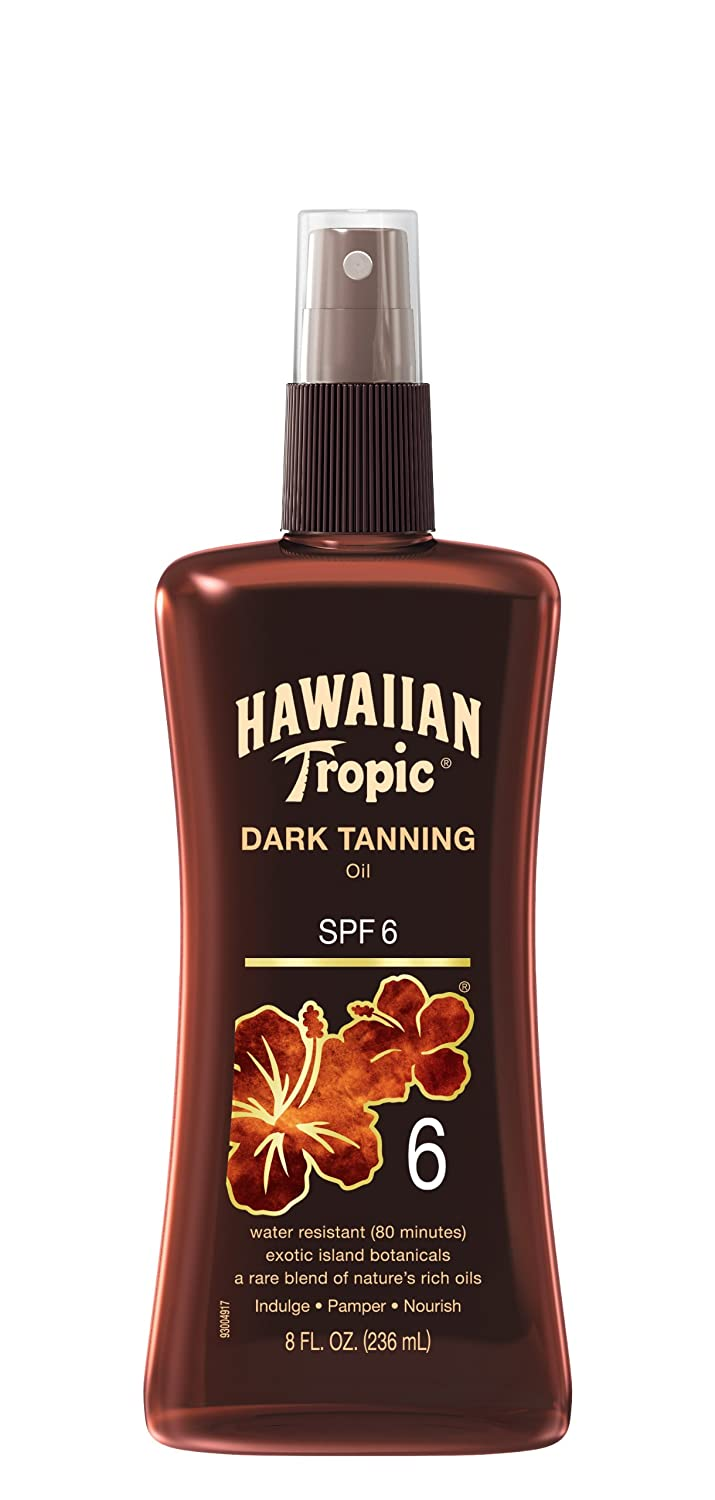 Hawaiian Tropic Dark Tanning Oil, Spray Pump, SPF 6 8 oz 8855