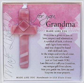 Amazon.com: Regalo para la abuela: Cruz de cristal hecha a ...