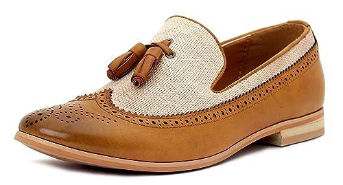 Hombre Inteligentes Vestido De La Manera Sin Cierres Mocasines Con Borlas Casual Oficina zapatos número GB: Amazon.es: Zapatos y complementos