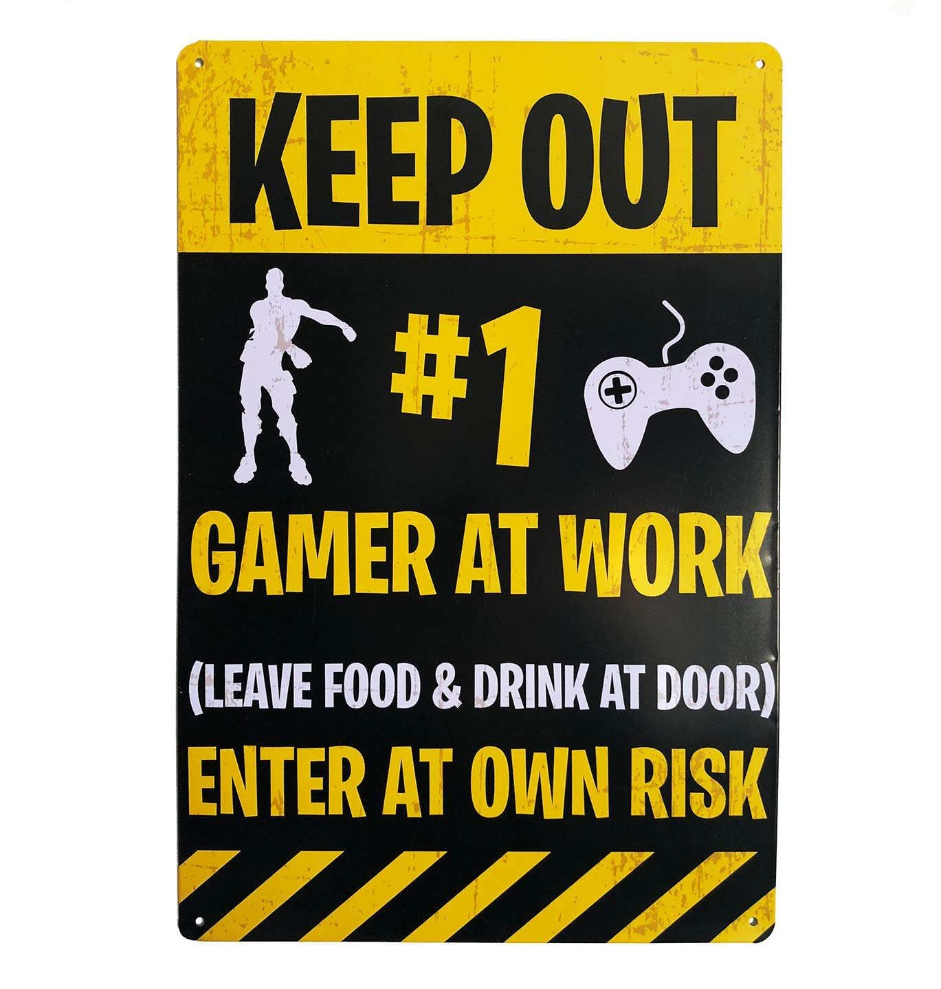 Sass Party & Gifts Gaming Tin Door Sign - Novelty Gaming Gift for Obsessive Gamers