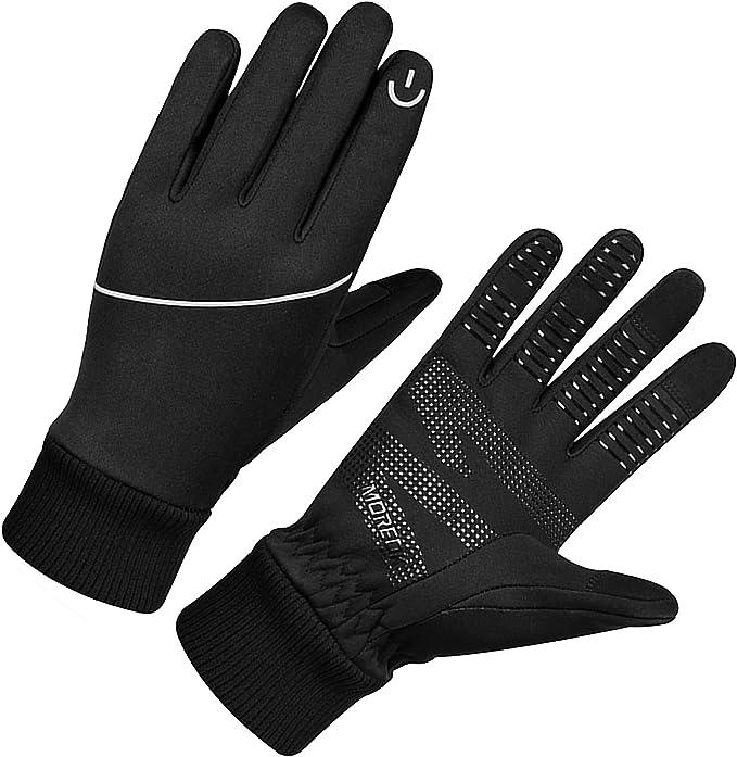 Moreok Winterhandschuhe Touchscreen Handschuhe Fahrradhandschuhe Winddichte Laufhandschuhe Rutschfeste Sporthandschuhe Für Männer Frauen Zum Laufen Klettern Radfahren Bekleidung