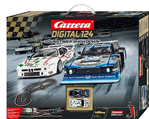 Amazon.com: Carrera 20023626 Digital 124 Young Timer Showdown Slot Car Racing System Set - Includes Ford Capri Zakspeed Turbo & BMW M1 Procar, ...