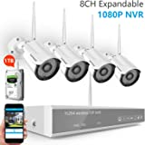 [Expandable System]Wireless Security Camera System,Safevant 8CH 1080P NVR IP Security Camera