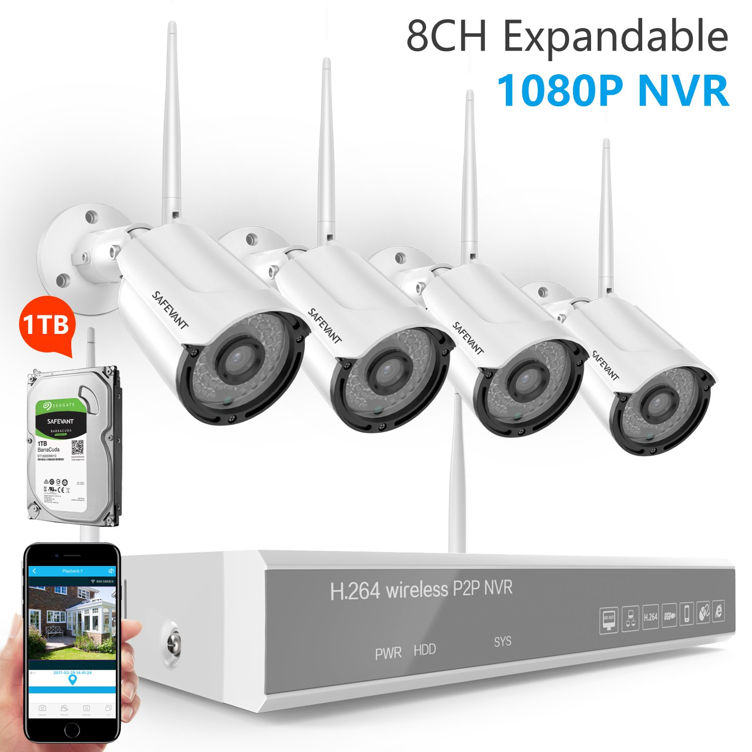 Expandable System] Wireless Security Camera System, Safevant