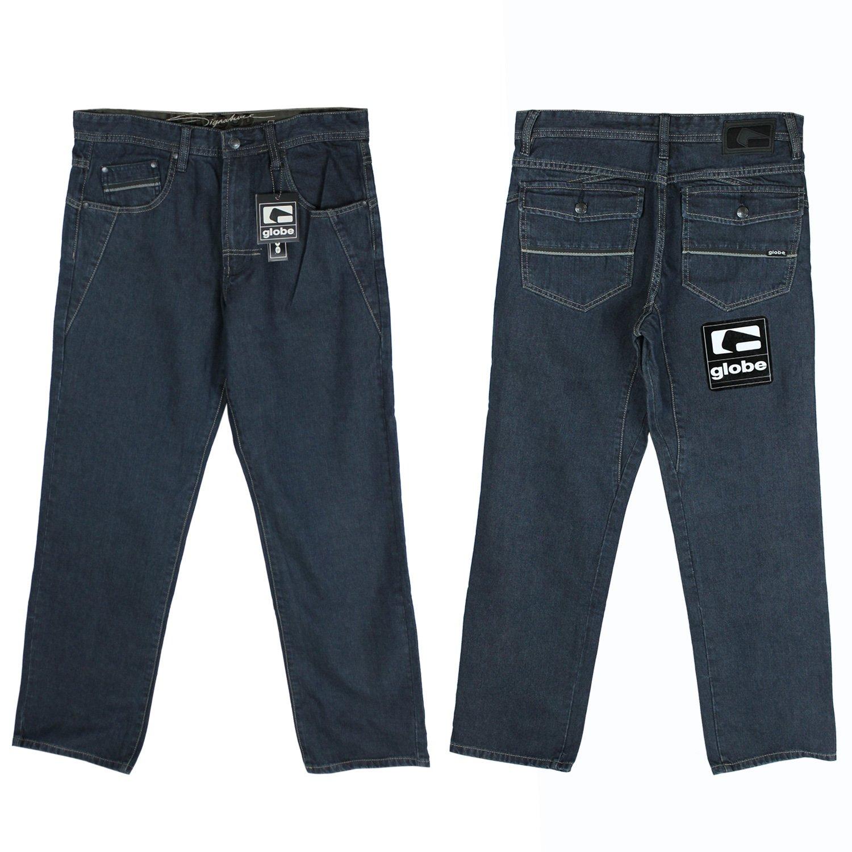 GLOBE Skateboard Pants HOBGOODS DENIM RINSE BLUE JEANS Size 32