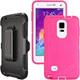 Galaxy Note 4 Case Heavy Duty,Harsel Defender Bumper Shockproof Dustproof Dropproof 3 Layer Rugged Protective Shell Case w/ B