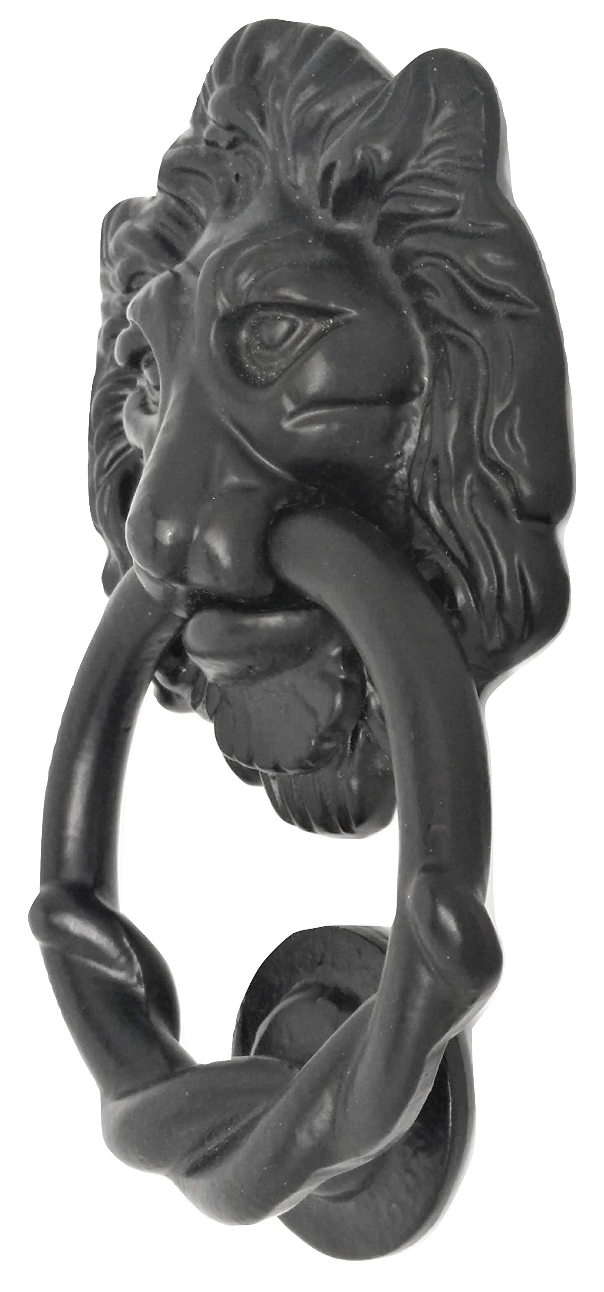 Antique Look Lion Door Knocker for Gates and Doors - Black