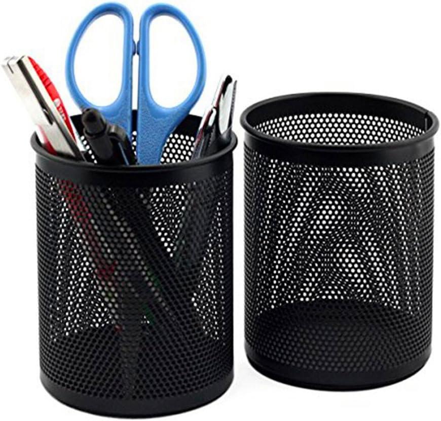 scrox/ /Stiftehalter aus Metall schwarz Netting Schreibwaren Aufbewahrungsbox B/üro de Finition Desktop