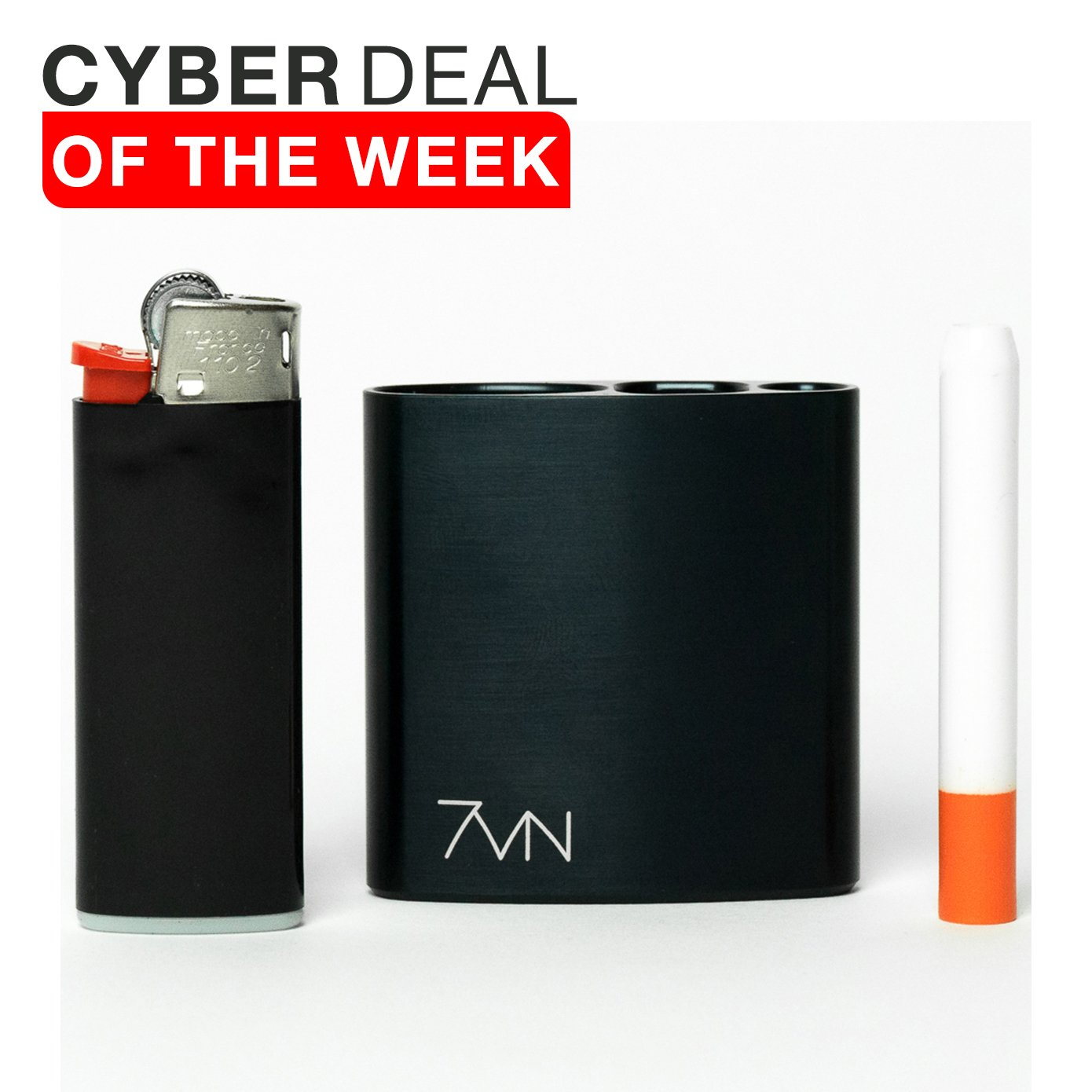 7vn - All in One Smell Proof Case Machined Anodized Aluminum (Gloss Black)