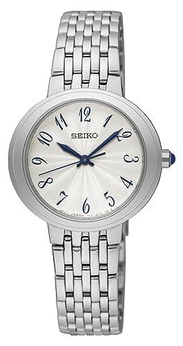Seiko Reloj Analogico para Mujer de Cuarzo con Correa en Acero Inoxidable SRZ505P1: Amazon.es: Relojes