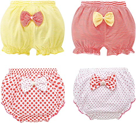4 Pack Bebé Bebé Niño Bloomer Shorts Lovely Candy Cubiertas de ...