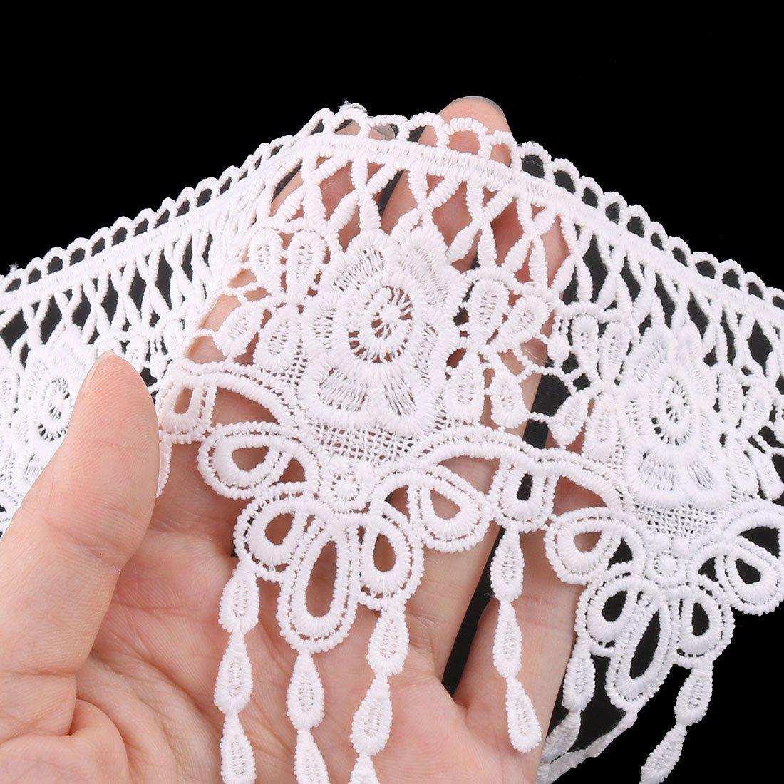 Amazon.com: eDealMax poliéster hecha a Mano de Coser ropa de la Falda del arte de la decoración del ajuste del cordón DE 11 cm Ancho Blanca