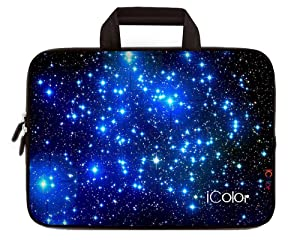 "iColor Starry Ultra-Portable Neoprene Carrying Protective Case Sleeve Briefcase Pouch Bag Tote w/ Handle for 11.6"" 12"" Inch Netbook / Laptop (IHB12-003)"