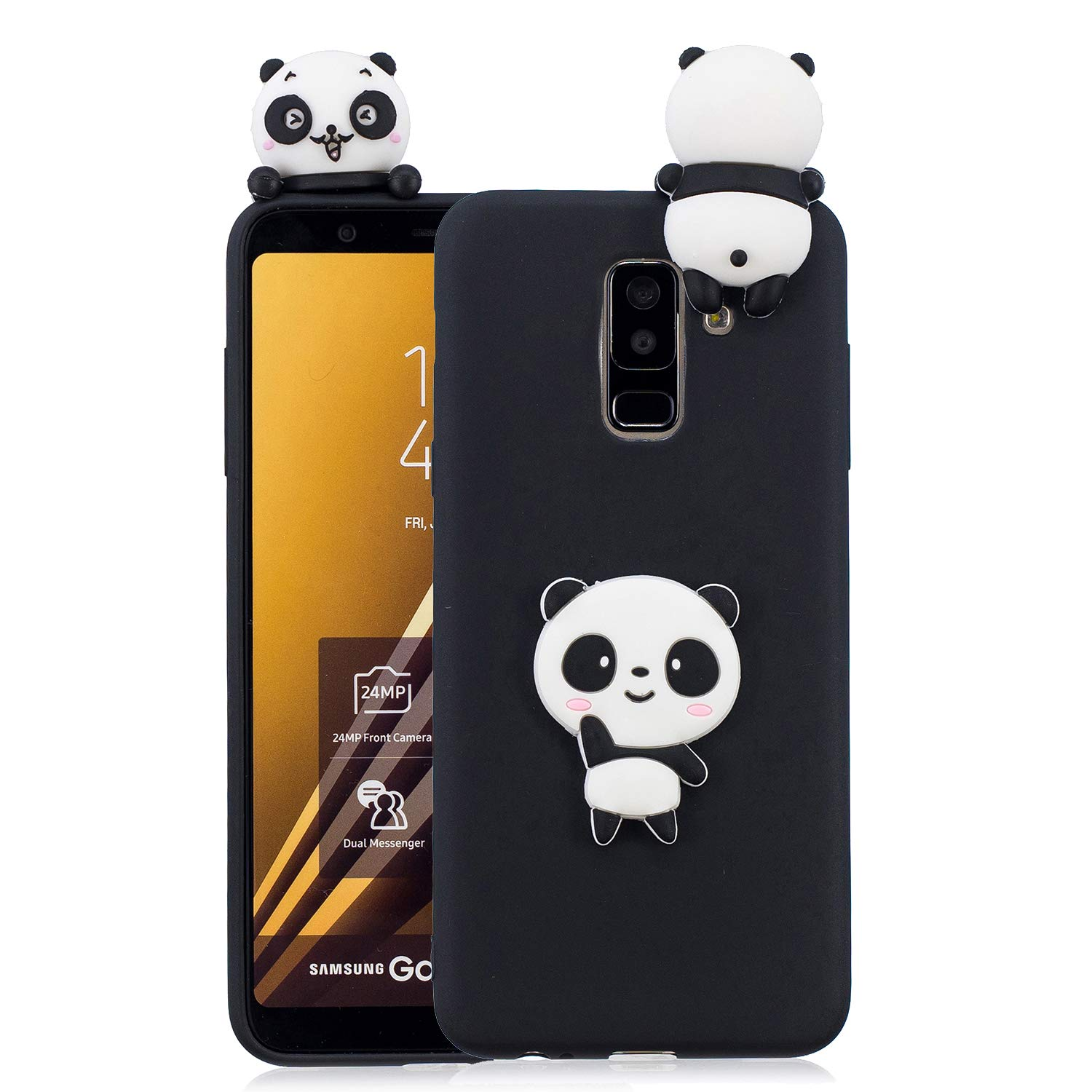 HopMore Coque Samsung Galaxy A6 Plus 2018 Silicone Souple 3D Design Motif Fruit Animal Drôle Mignonne Etui Samsung Galxy J8 2018 / Samsung A6+ Étui Antichoc Ultra Mince Fine Gel Bumper Slim Case Housse Protection pour Fille Femme - Licorne