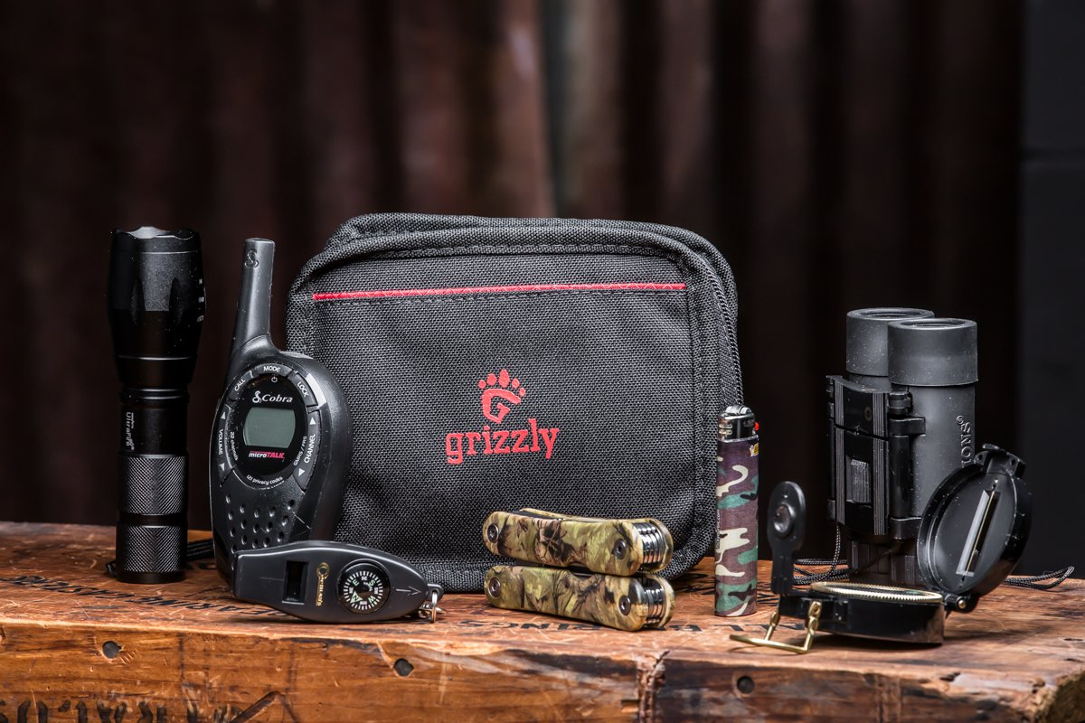 Grizzly MALLARD- DUCK CALL BAG. Tough, Sturdy, Heavy Duty Stitching. Holds up under heavy use for years. Carries 6 duck, bird, or animal calls. Two strong back straps for Waist Belt Backpack Gear Bag